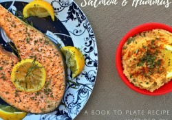 Salmon and Hummus