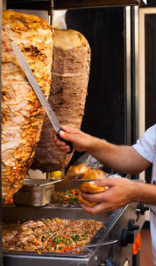 Egyptian Fast Food Cook Shaves Meat