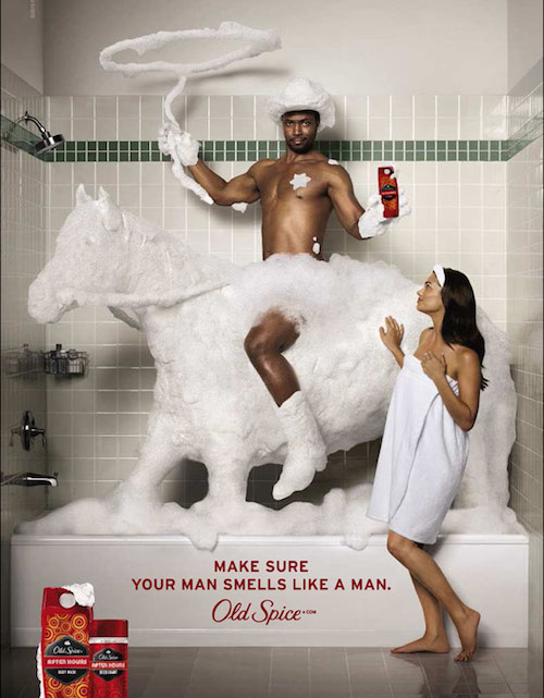 Old Spice Guy in Bathtub