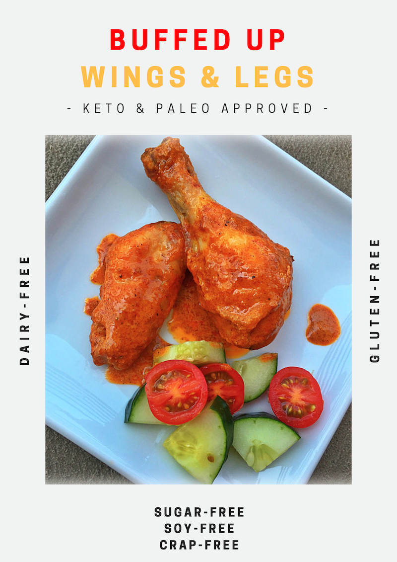 Paleo Buffalo Wings Legs