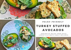 Paleo Turkey Stuffed Avocados