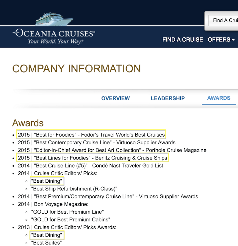 oceania-cruises-awards