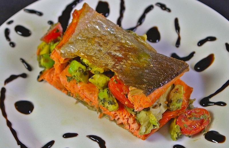 Salmon Sandwich close up
