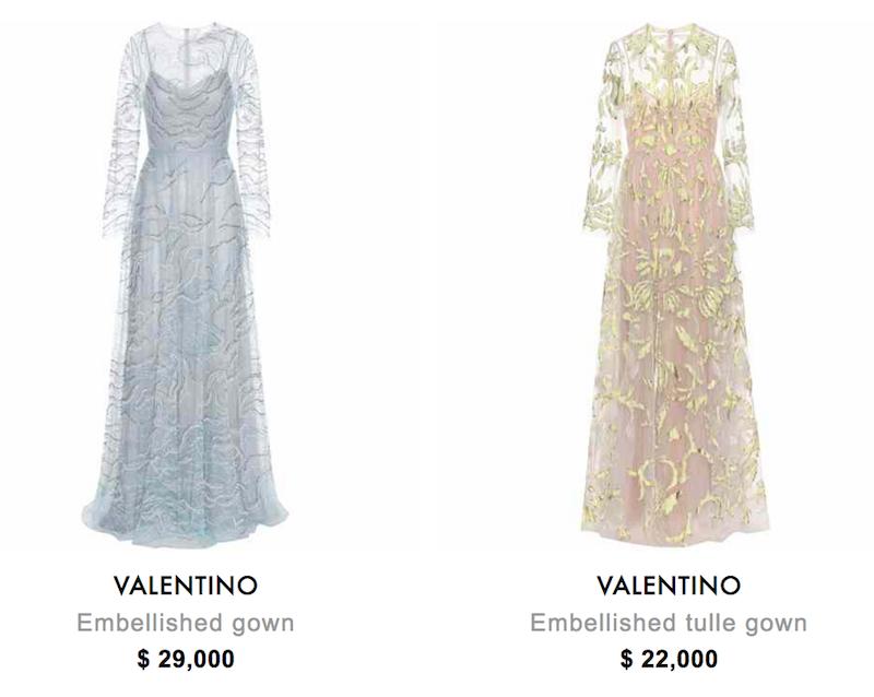 expensive valentino dresses