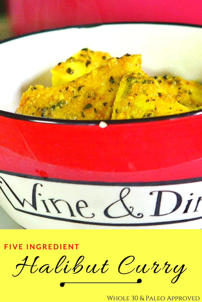 five ingredient halibut curry