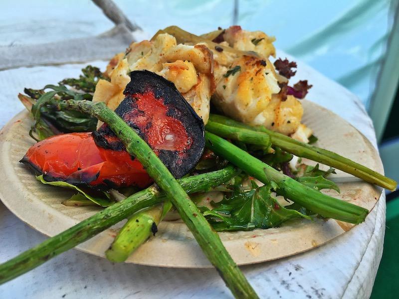 grilled alaskan cod vegetables