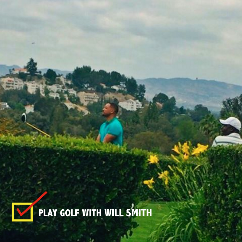 playing golf will smith