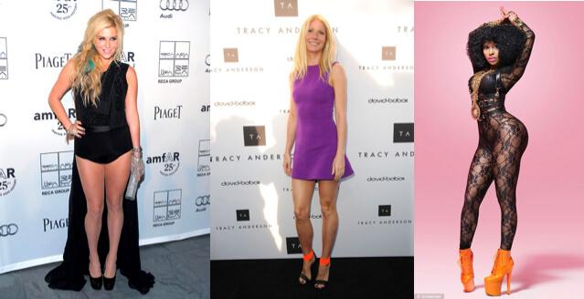 Kesha, Gwyneth Paltrow and Nicki Minaj