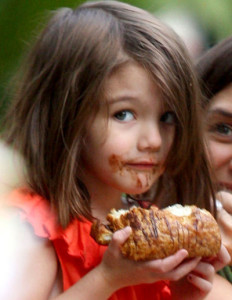 suri cruise loves a chocolate croissant