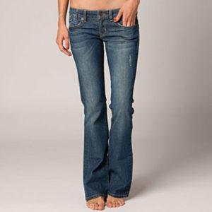 Model in Bootcut Jeans