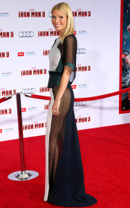 Gwyneth Paltrow walks the red carpet at the Iron Man premiere