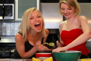 GIGI DUBOIS AND TARA REDFIELD PLAY WITH AVOCADOS