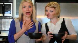 Ow! GiGi Dubois ate her hot food