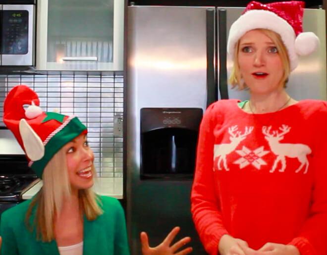 Tara and GiGi make Christmas cookies