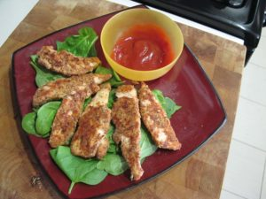 Almond Meal Crusted Chicken Fingers