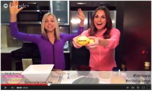 A lemon football, Whitney and GiGi