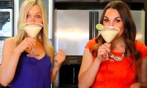 GiGi and Whitney drinking Margaritas