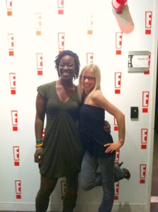 GiGi Dubois and Stephanie Taylor at E! News