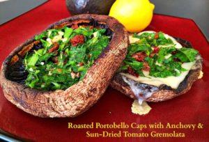 Portobello Mushrooms with Gremolata