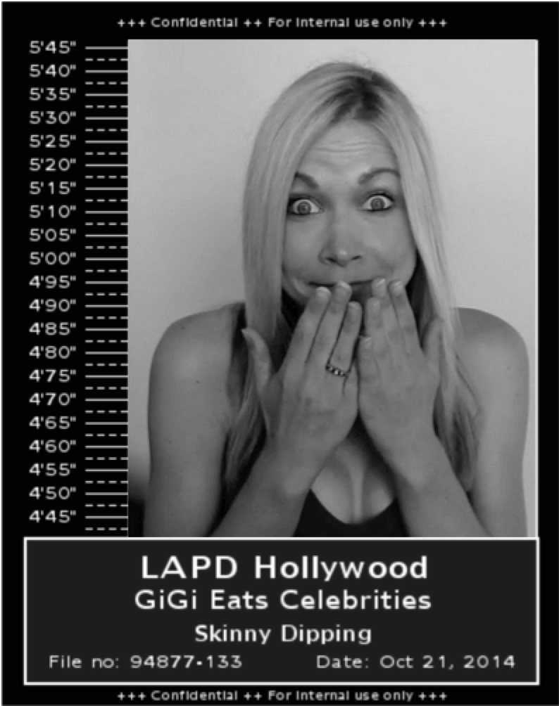 GiGi Eats Celebrities Mug Shot LAPD