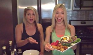 GIGI AND GIOVANNA WITH THE NICOISE SALAD