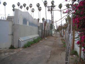 Sketchy Alleyway off Hollywood Blvd