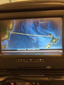 Air New Zealand Flight from Auckland NZ to Sydney AUS