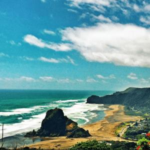 Piha Beach view New Zealand