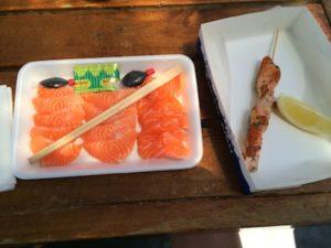Salmon Sashimi Salmon Kabob