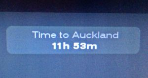 Flight time to Auckland