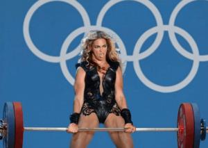 Beyonce Lifting Weights