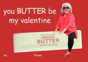 Paula Deen Funny Celebrity Valentine's Day Card