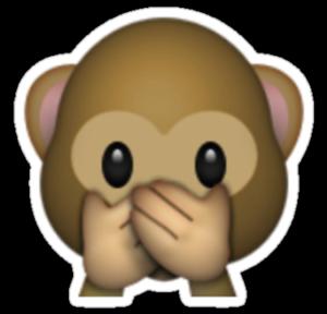 Monkey Emoji speak no evil