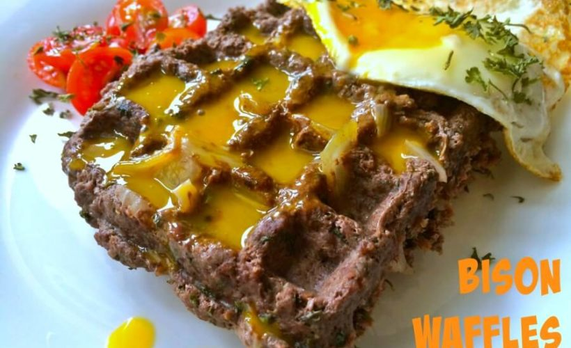 The-Honest-Bison-Meat-Waffle