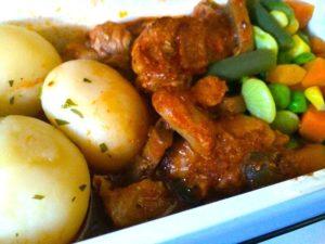 China Airlines Chicken Potato Mush