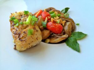 Blue Apron's Miso Cod recipe created on GiGi Eats Celebrities
