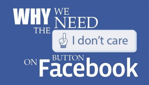 i dont care facebook button