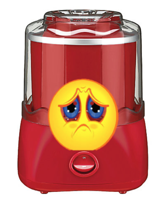 unhappy ice cream maker