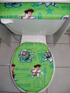 buzz lightyear woody toilet seat