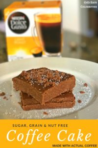 Caffeinating Coffee Cake, Dolce Gusto Style