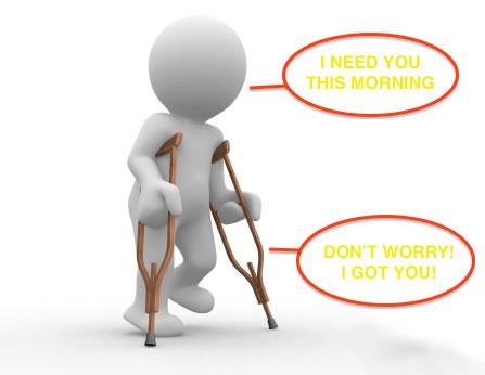 Crutches Help