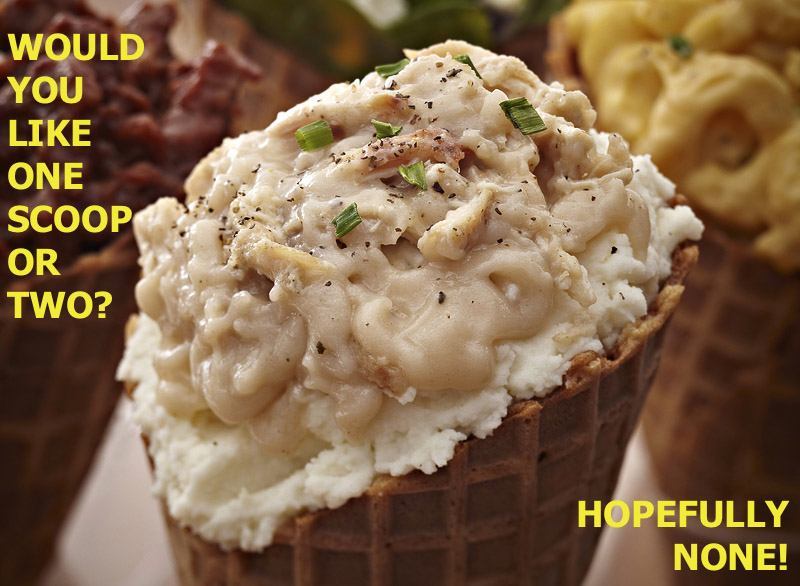 horseradish blue cheese ice cream