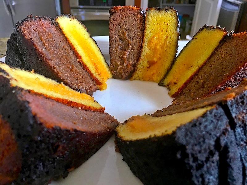 Collagen Protein Vanilla Chocolate Layer Cake