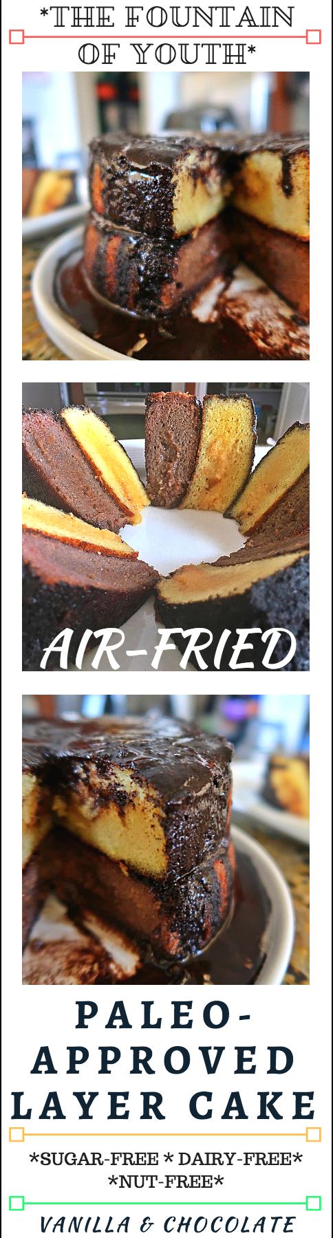 Air Fried Vanilla Chocolate Layer Paleo Birthday Cake1