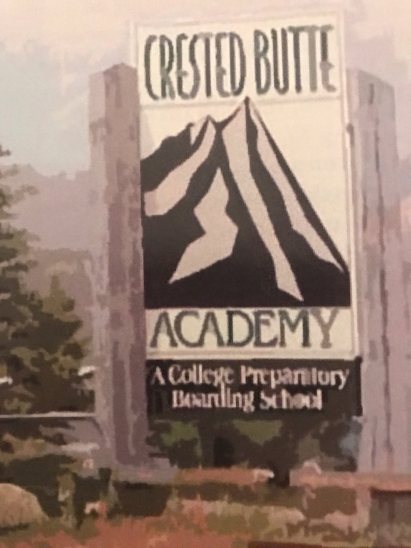 crested butte academy sign