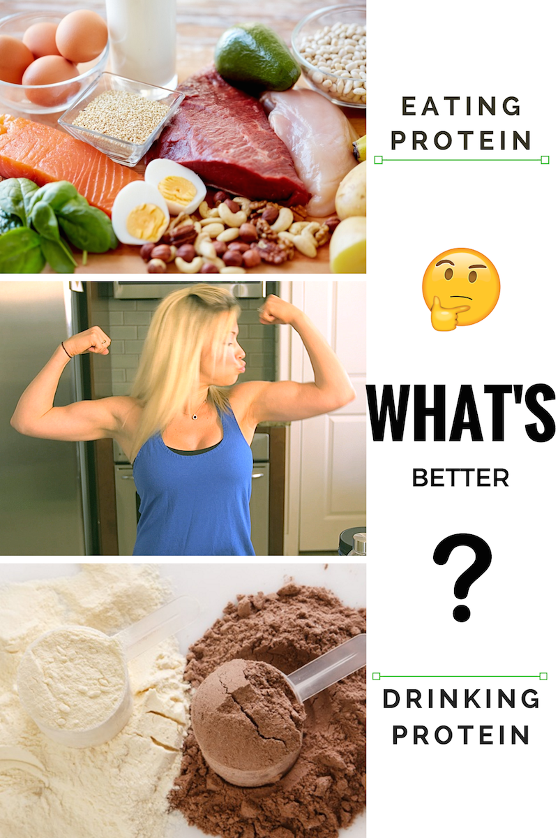 eating vs drinking protein