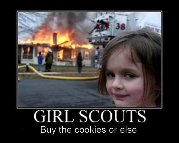 girl scout cookies meme