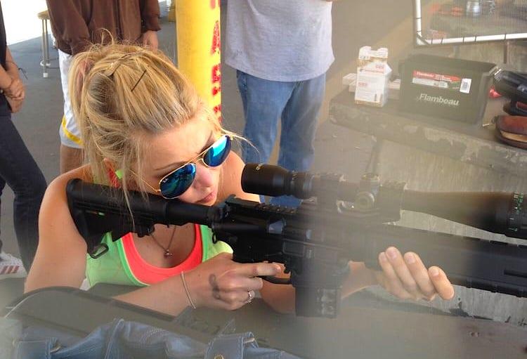 GiGi Shooting Gun Angeles Shooting Range