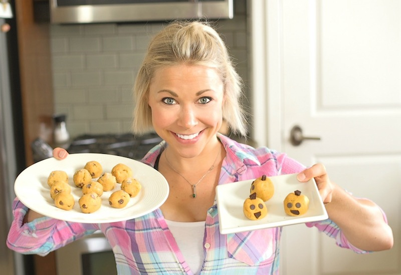Pumpkin Cookie Dough Balls GiGi Eats Celebrities