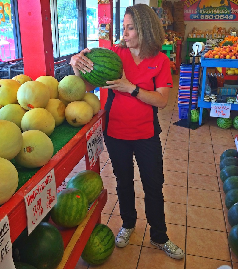 Sister in law GiGi Eats Celebrities Watermelon